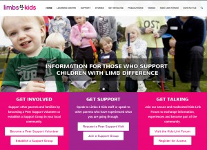 Limbs 4 Kids Home Page Image
